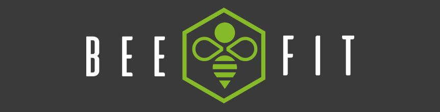 Bee Fit logo on dark background